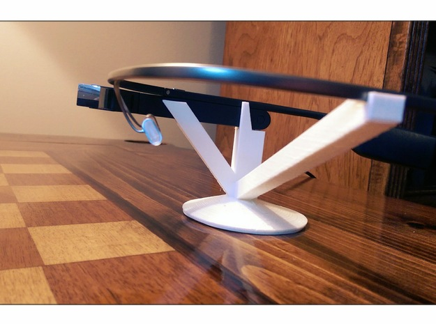 Google Glass Charging Stand - Original Cable in White Strong & Flexible