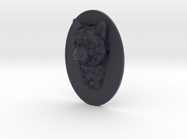 Dog Face + Half-Voronoi Mask (002) in Black PA12