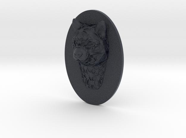 Dog Face + Half-Voronoi Mask (002) in Black PA12
