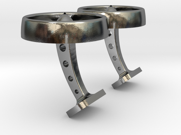 Turbine Type 1: GEnx inspired silver Cufflinks