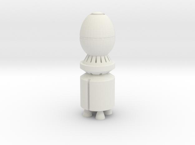 GP02 Warhead 1/100 Scale in White Natural Versatile Plastic