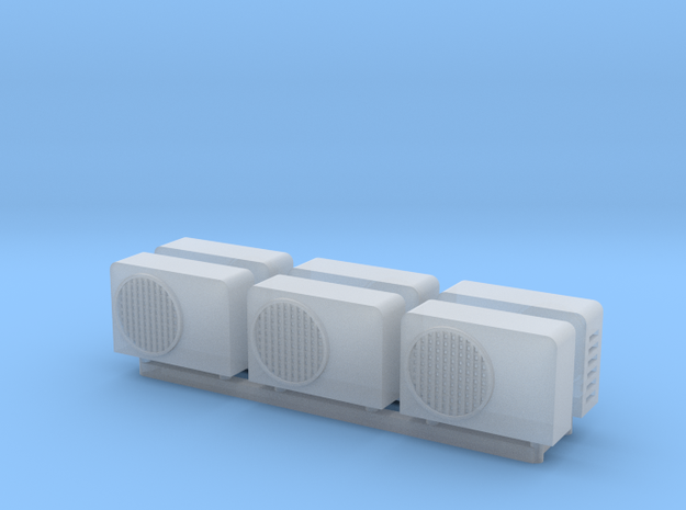 1:100 Aircon units (6pc) in Smooth Fine Detail Plastic