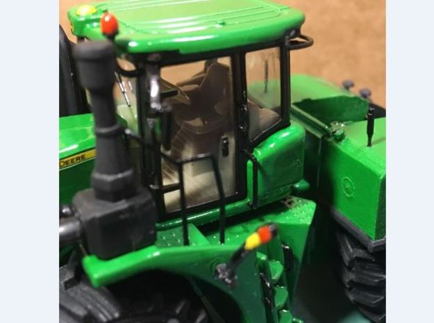 (4) GREEN 4WD HANDRAILS in Smooth Fine Detail Plastic