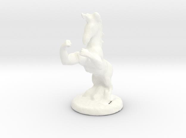 Fu The Fighting Unicorn™ in White Processed Versatile Plastic: Small