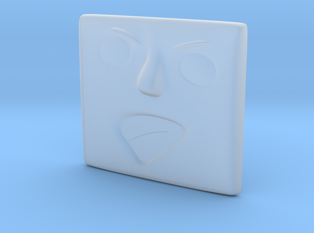 Angry Face in Smoothest Fine Detail Plastic