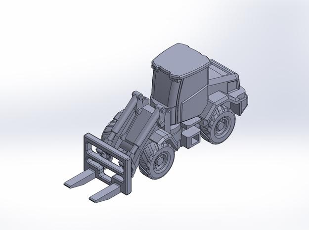 JCB417 forklift wheel loader in Smoothest Fine Detail Plastic: 1:200