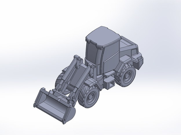 JCB417 bucket loader in Smoothest Fine Detail Plastic: 1:220 - Z