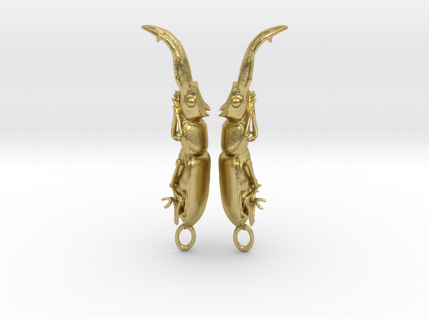 Stag Beetle Pendant - Closed Jaws