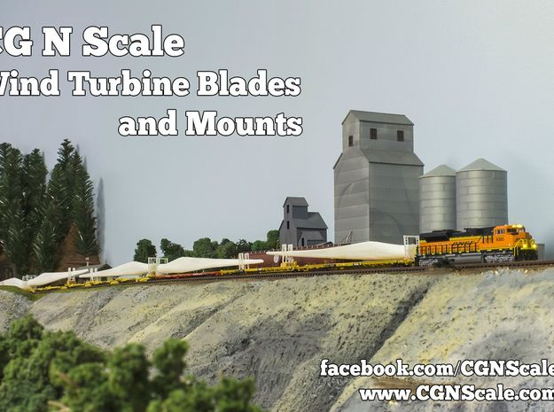 N Scale Wind Turbine Mounts - 3 Pack (Part 1 of 2) 3d printed