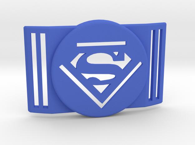 Freestyle Libre Shield - Libre Guard SUPERMAN in Blue Processed Versatile Plastic