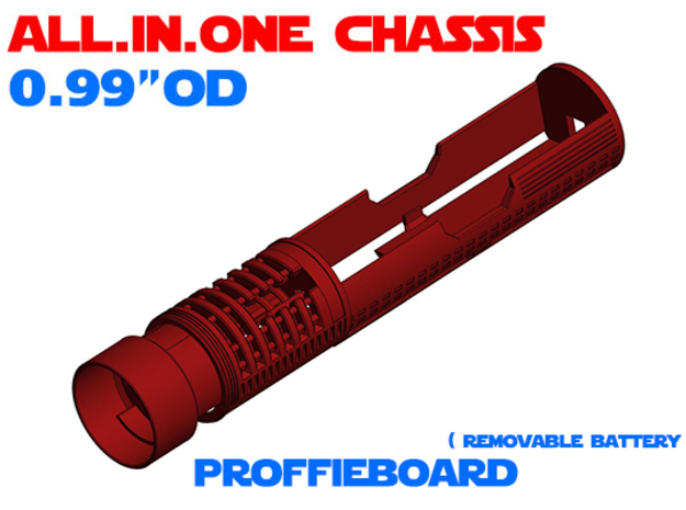 """ALL.IN.ONE - 0.99""""OD - ProffieBoard in White Natural Versatile Plastic"""