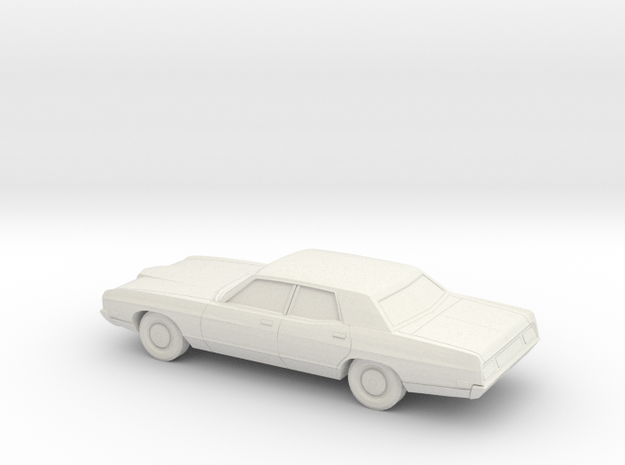1/76 1971 Ford LTD Sedan in White Natural Versatile Plastic