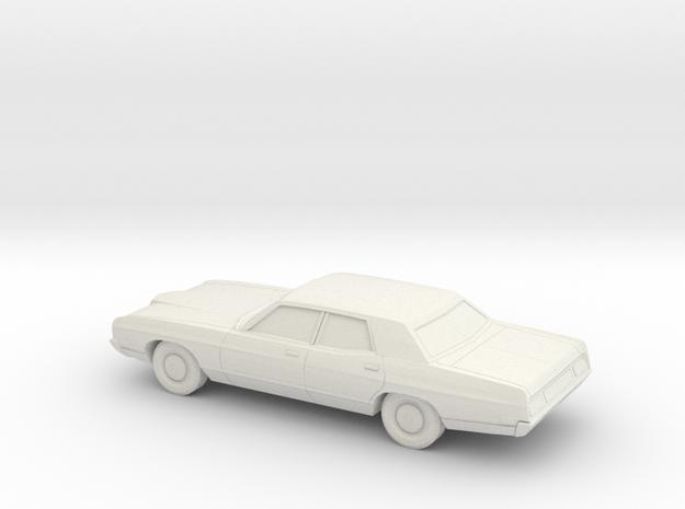 1/76 1971 Ford LTD Sedan in White Natural Versatile Plastic