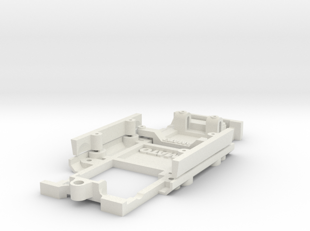 Chassis for Austin 1000 1:24th (FRONT WHEEL DRIVE) in White Natural Versatile Plastic