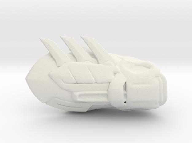 Batman Gauntlet Left in White Natural Versatile Plastic
