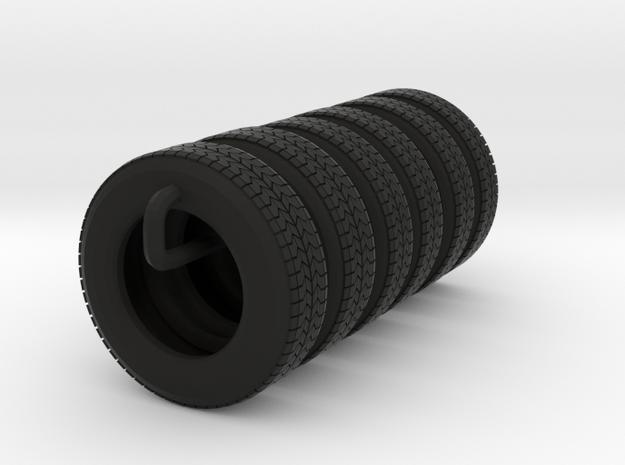 "22.5"" Single axle frame tire group in Black Natural Versatile Plastic"