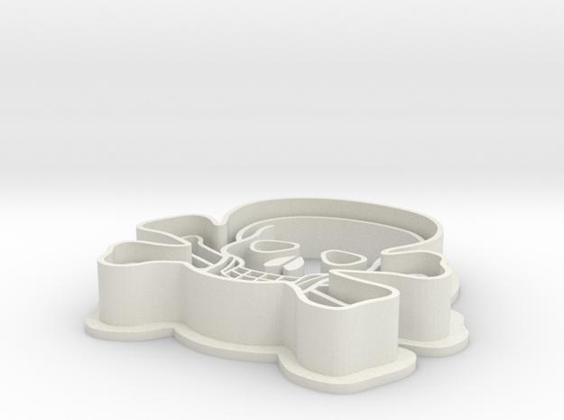 Skull Cookie Cutter in White Natural Versatile Plastic
