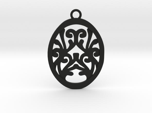 Olwen pendant in Black Natural Versatile Plastic: Medium