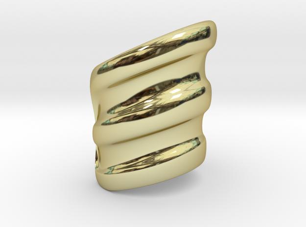 Dead Boys cuff in 18k Gold Plated Brass