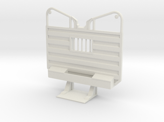 1/16th Waffle pattern logging ear headache rack in White Natural Versatile Plastic