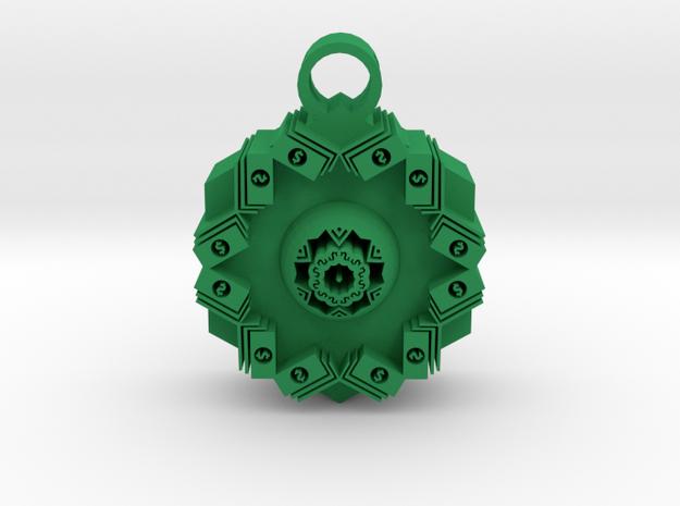 money vision pendant in Green Processed Versatile Plastic