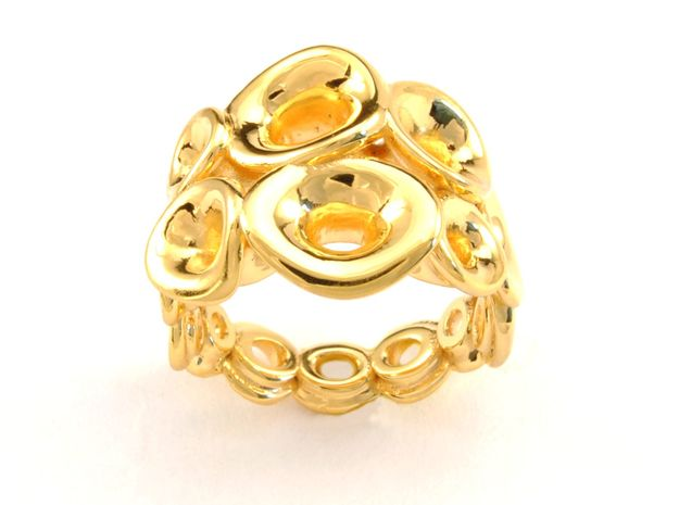 Mo-at size Doble Ring  (From $31) in 18k Gold Plated Brass: 6.5 / 52.75