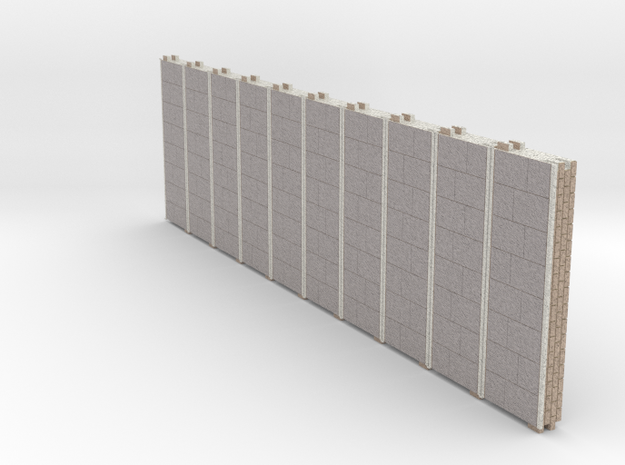 N gauge Platforms X10 textured and seamless joints in Natural Full Color Sandstone