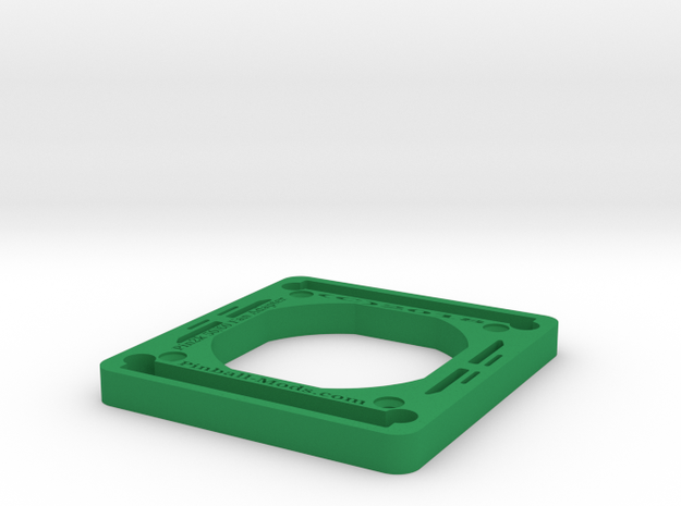 Pin2k 50mm To 60mm Fan Adapter in Green Processed Versatile Plastic