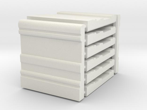 3 x 3 Baseboard Set in White Natural Versatile Plastic