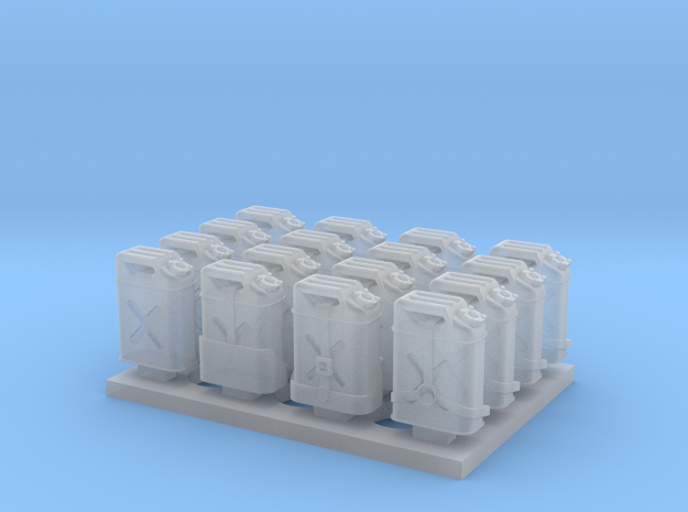 1:72 US Jerry Cans (16x) in Smoothest Fine Detail Plastic