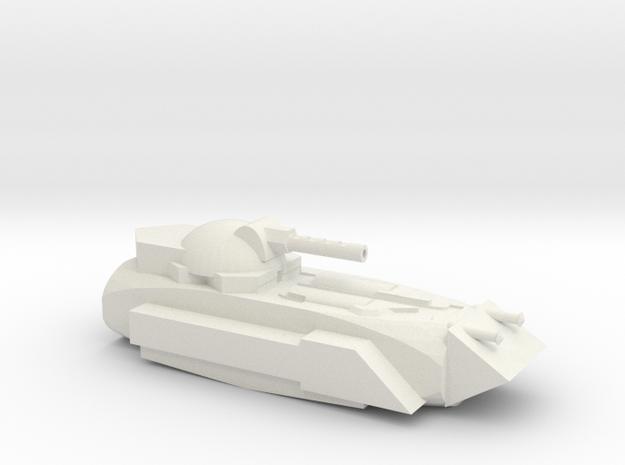 Sci-fi Tank in White Natural Versatile Plastic