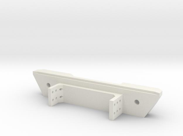 Narrow Rear Bumper for Gen7 in White Natural Versatile Plastic