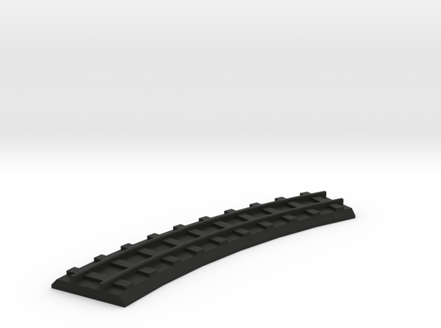 4mm gauge dummy curve  in Black Natural Versatile Plastic