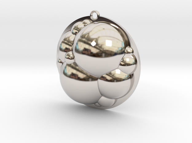 Bubbles Pendant in Rhodium Plated Brass