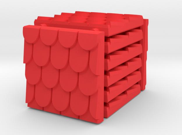 3 x 3 Fancy Shingle Set in Red Processed Versatile Plastic
