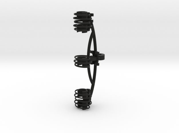 Blumlein Stereo Shockmount for RM BIV-1 in Black Natural Versatile Plastic