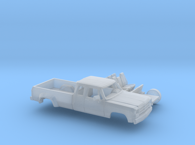 1/87 1988-91 Dodge Ram ExtCab Dually Kit in Smooth Fine Detail Plastic