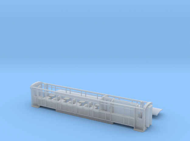 Welsh Highland Rly 3rd/brake/toilet coach NO.2091 in Smooth Fine Detail Plastic