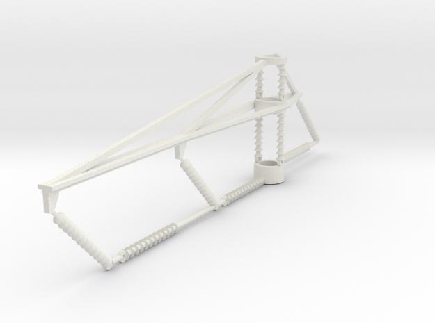 PRR 3 phase bracket CURVE in White Natural Versatile Plastic