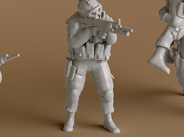 Soldier 5 no base (1:64 Scale) in Smooth Fine Detail Plastic