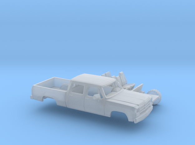 1/87 1988-91 Dodge Ram CrewCab Short Bed Kit in Smooth Fine Detail Plastic