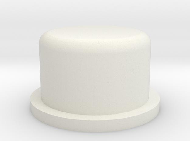 Brick Mechanical Squonk Mod Button in White Natural Versatile Plastic