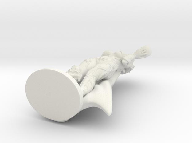Dark Queen TOP DESIGN VARIANT w Cape! Mini - 40mm in White Natural Versatile Plastic