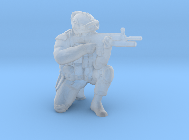 Soldier 10 no base (1:64 Scale) in Smooth Fine Detail Plastic