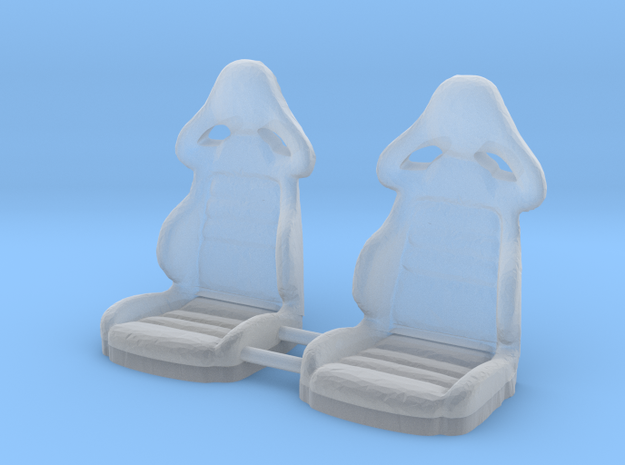 1/64 Scale Pair of Leather Bucket Seats in Smoothest Fine Detail Plastic