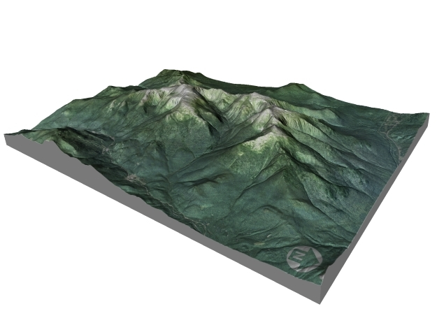 "Mount Washington Map: 8.5""x11"" in Matte Full Color Sandstone"