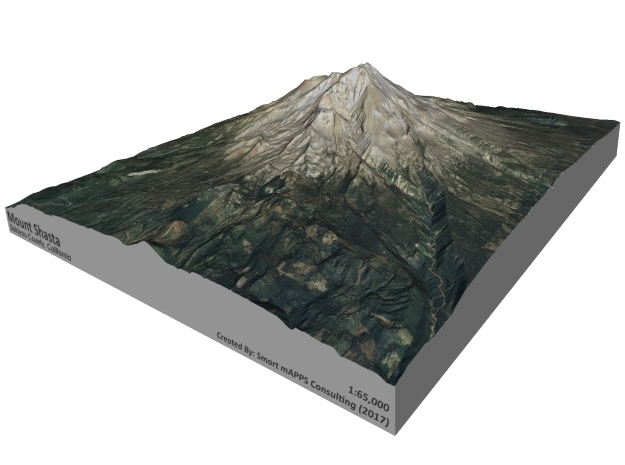 "Mount Shasta 8.5""x11"" in Full Color Sandstone"
