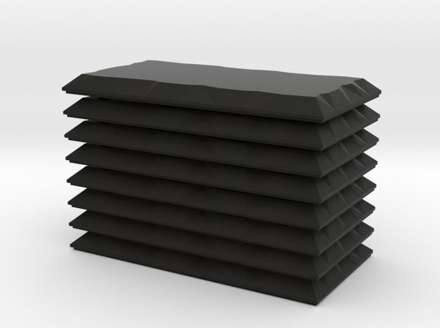 Eight 3x6 Double Stone Set in Black Natural Versatile Plastic