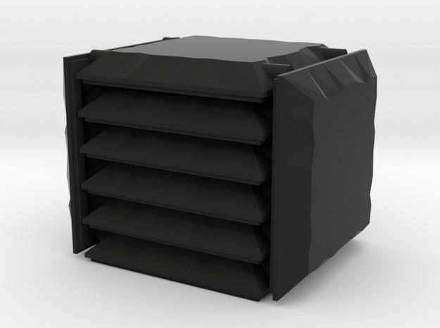 3x3 Stone Square Set in Black Natural Versatile Plastic