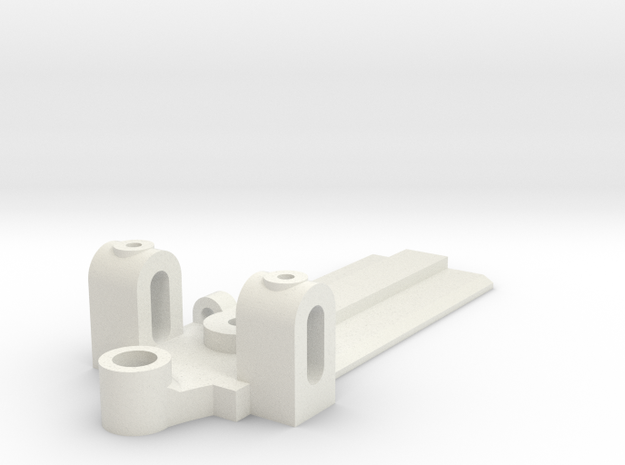 25mm Wide, 50mm long Front End, extended guide in White Natural Versatile Plastic